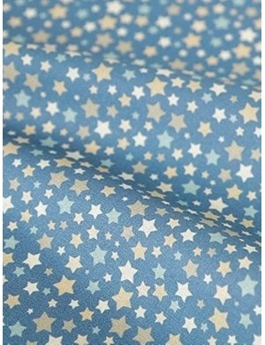 Ткань хлопок Звезды синие