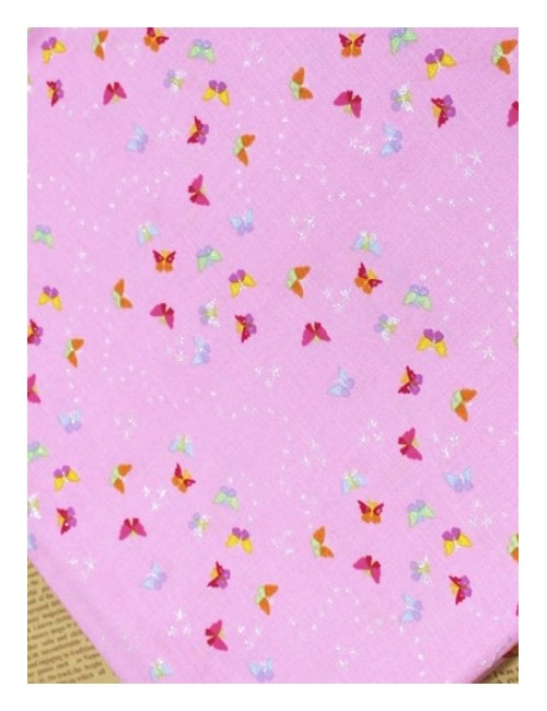 Ткань Бабочки с глитером