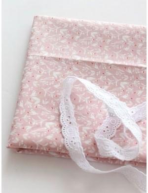 Ткань Растения на розовом