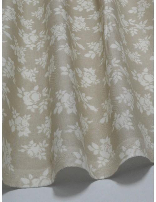 Ткань Хлопок Шебби розы на бежевом