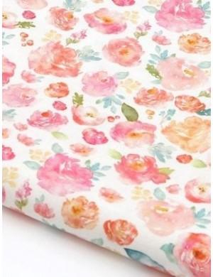Ткань, 100 хлопок, Акварель, ширина 110 см, плотность 155 г/м2, производитель Корея
