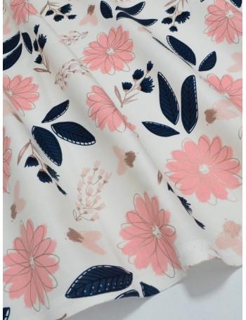 Ткань Хлопок Большие цветы Riley