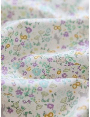 Ткани 100% хлопок, Котики на цветочной поляне, ширина 110 см, Корея