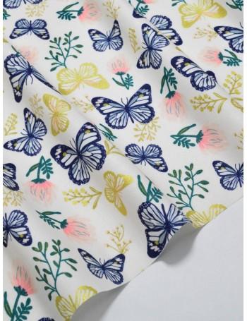Ткань 100 % Хлопок Бабочки с глиттером 150 (г/м2), ширина 110 см.