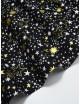 Ткань Звезды черные