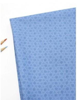 Ткань 100 % Хлопок Листики на голубом фоне 150 (г/м2), ширина 110 см.