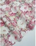 Ткань 100 % Хлопок Большие цветы на бордовом фоне 155 (г/м2), ширина 110 см.