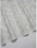 Ткань 100 % Хлопок Листья с глиттером на белом фоне 155 (г/м2), ширина 110 см.