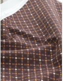 Ткань 100 % Хлопок Цветочный орнамент на коричневом фоне , 150 г/м2 , ширина 110 см