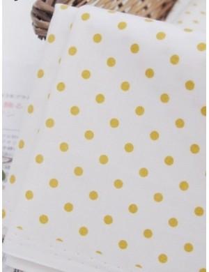 Ткань Горох желтый 3 мм