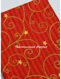 Ткань узоры на красном