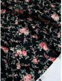Ткань 100 % Хлопок, Розы на черном фоне , Плотность 150 г/м2 , ширина 110 см