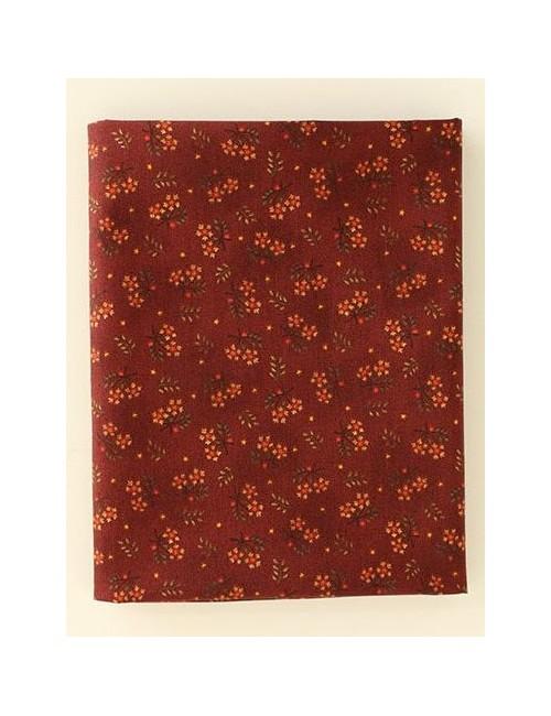 Ткань 100 % Хлопок, Цветы на терракотовом фоне , Плотность 150 г/м2 , ширина 110 см