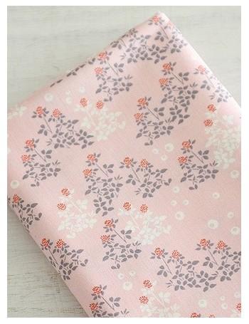 Ткань 100 % Хлопок, Клевер на розовом фоне , Плотность 150 г/м2 , ширина 110 см