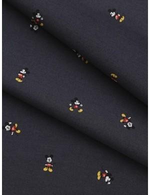 Ткань 100 % Хлопок,Микки Маус на сером фоне , Плотность 155 г/м2, ширина 110 см.