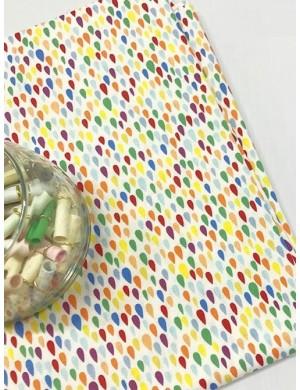 Ткань 100 % Хлопок, Радужные капельки , Плотность 155 г/м2, ширина 110 см.