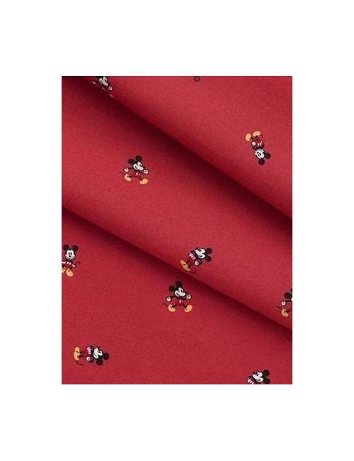 Ткань 100 % Хлопок, Микки Маус на красном фоне , Плотность 155 г/м2, ширина 110 см.