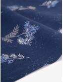 Ткань 100 % Лён Dailylike, Жемчужные цветы на ветке , Плотность 260 г/м2, ширина 150 см.