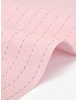 Ткань 100 % Хлопок Dailylike, Полоска на розовом фоне , Плотность 165 г/м2, ширина 110 см.