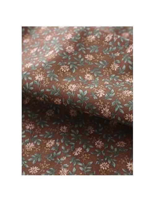 Ткань 100 % Хлопок, Ветки на коричневом фоне , Плотность 155 г/м2, ширина 110 см.