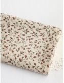 Ткань 100 % Хлопок, Бутоны роз на бежевом, Плотность 155 г/м2, ширина 110 см.
