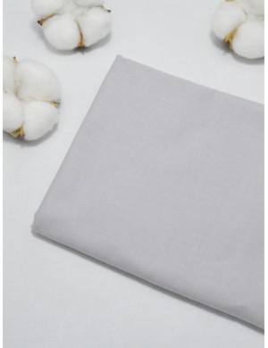 Ткань 100 % Хлопок, Однотонный светло-серый , Плотность 155 г/м2, ширина 110 см.