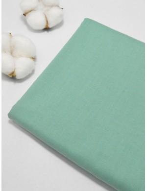 Ткань 100 % Хлопок, Однотонный серо-зеленый , Плотность 155 г/м2, ширина 110 см.