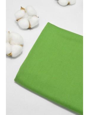 Ткань 100 % Хлопок, Однотонный зеленый , Плотность 155 г/м2, ширина 110 см.