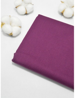 Ткань 100 % Хлопок, Однотонный сливовый , Плотность 155 г/м2, ширина 110 см.