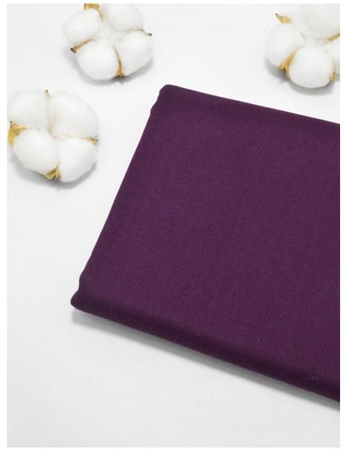 Ткань 100 % Хлопок, Однотонный темно-сливовый , Плотность 155 г/м2, ширина 110 см.
