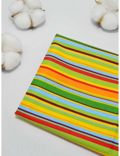 Ткань 100 % Хлопок, Разноцветная полоска , Плотность 155 г/м2, ширина 110 см.