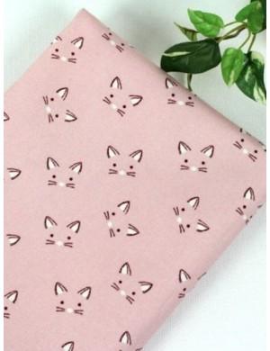 Ткань 100 % Хлопок, Котики на розовом , Плотность 155 г/м2, ширина 110 см.