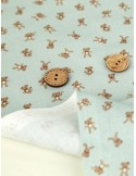 Ткань 100 % Хлопок, Маленькие мишки , Плотность 155 г/м2, ширина 110 см.