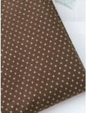 Ткань 100 % Хлопок, Звездочки на коричневом фоне , Плотность 155 г/м2, ширина 110 см.