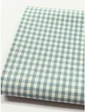 Ткань 100 % Хлопок, Голубая клетка 3 мм , Плотность 155 г/м2, ширина 110 см.
