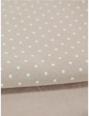 Ткань 100 % Хлопок, Горох 3 мм на розовом, мягкий, финишная обработка , Плотность 155 г/м2, ширина 145 см.