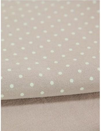 Ткань 100 % Хлопок, Горох на розовом, мягкий, финишная обработка , Плотность 155 г/м2, ширина 145 см.