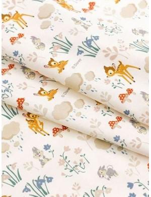 Ткань 100 % Хлопок, Бемби Дисней , Плотность 155 г/м2, ширина 110 см.
