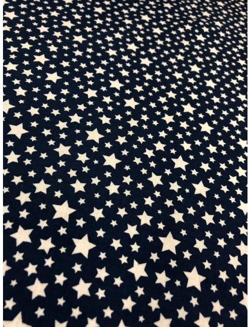 Ткань 100 % Хлопок, Звезды на синем фоне , Плотность 155 г/м2, ширина 110 см.