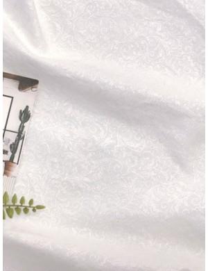 Ткань 100 % Хлопок, Золотые завитки на белом, Плотность 155 г/м2, ширина 110 см.