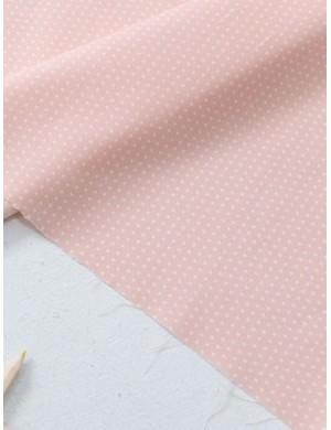 Ткань 100 % Хлопок, Горох 2 мм на персиковом фоне , Плотность 155 г/м2, ширина 110 см.
