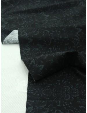 Ткань 100 % Хлопок, Дамаск на черном, Плотность 155 г/м2, ширина 110 см.