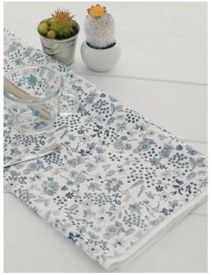 Ткань 100 % Хлопок, Черные цветы на белом , Плотность 155 г/м2, ширина 110 см.