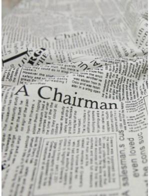 Ткань плотный 100 % Лён , Газета , плотность 200 г/м2, ширина 150 см.