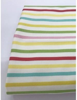 Ткань 100 % плотный хлопок, Разноцветная полоска , плотность 200 г/м2, ширина 110 см.