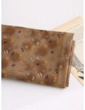 Ткань 100 % Хлопок, Швейные радости на коричневом, Плотность 155 г/м2, ширина 110 см.
