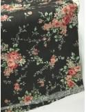 Ткань 100 % Хлопок, Букеты роз на сером фоне, Плотность 155 г/м2, ширина 110 см