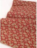 Ткань 100% хлопок, Шебби розы на красном фоне, ширина 110 см, плотность 155 г/м2