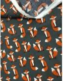 Ткань 100 % Хлопок, Лисички Robert Kaufman , размер лисы 3,5 см, плотность 155 г/м2, ширина 147 см