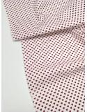 Ткань 100 % хлопок, Сердца красные, Чехия, ширина 147 см, плотность 145 г/м2
